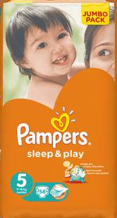 PAMPERS Sleep & Play 5 JUNIOR (11-18kg) 2x58 (116ks) JUMBO PACK - jednorázové plienky