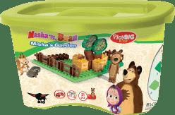 BIG Bloxx Máša a medveď - Míšove záhradka