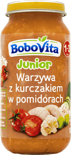 BOBOVITA Warzywa z kurczakiem w pomidorach (250g)