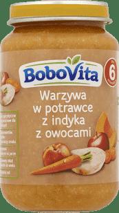 BOBOVITA Warzywa w potrawce z indykiem z owocami (190g)