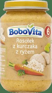 BOBOVITA Domowy rosołek z kurczaka z ryżem (190)