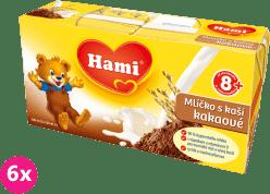 6x HAMI mliečko s kašou kakaové (2x250ml)