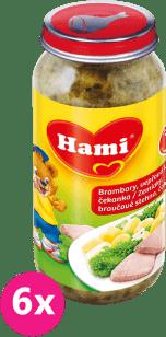 6x HAMI Zemiaky s bravčovým stehnom a čakankou (250 g) - mäso-zeleninový príkrm