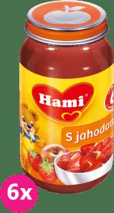 6x HAMI s jahodami bez cukru 200g - ovocný príkrm