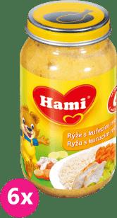 6x HAMI rýže s kuřecím masem (200 g) - maso-zeleninový příkrm