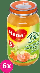 6x HAMI BIO ovocný koktejl s mandarinkou (200g) - ovocný príkrm