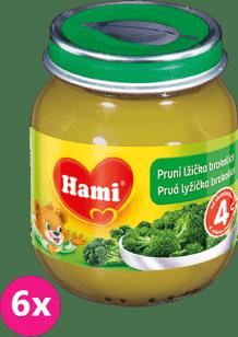 6x HAMI Prvá lyžička brokolica125g - zeleninový príkrm