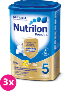 3x NUTRILON 5 ProNutra vanilka (800g) - dojčenské mlieko