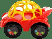 BRIGHT STARTS Hračka autíčko Oball Rattle & Roll™, červené, 3m+