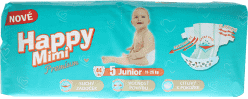 HAPPY MIMI dětské pleny Premium Junior 44 ks