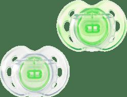 TOMMEE TIPPEE Cumlík CTN silikón Air Style 2ks 0-6m-zelené