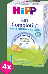4x HIPP 1 BIO Combiotik (600g) - počiatočná mliečna dojčenská výživa