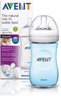 AVENT Butelka 260 ml Natural PP niebieska