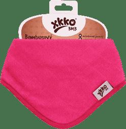 KIKKO Bambusový slintáčik/šatka Colours (1ks) – magenta
