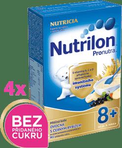 4x NUTRILON ProNutra ovocná s černým rybízem (225g) - mléčná kaše