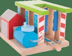 BIGJIGS Drevená vláčkodráha - Umývačka