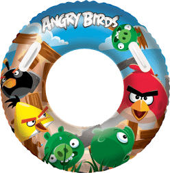 BESTWAY Nafukovací kruh velký - Angry Birds, průměr 91 cm