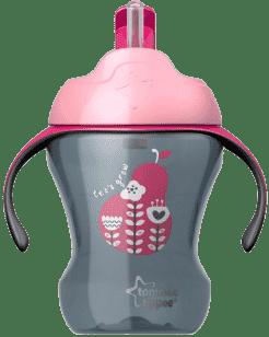 TOMMEE TIPPEE Netečúci hrnček so slamkou Explora Easy Drink 6m +, 230ml-dievča