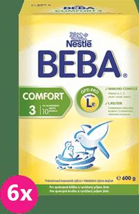 6x NESTLÉ BEBA COMFORT 3 (600g) - dojčenské mlieko