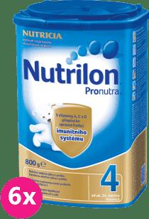 6x NUTRILON 4 ProNutra (800g) - dojčenské mlieko