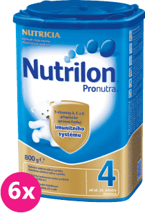 6x NUTRILON 4 ProNutra (800g) – kojenecké mléko