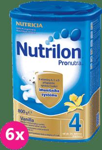 6x NUTRILON 4 ProNutra vanilka (800g) - dojčenské mlieko