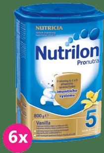 6x NUTRILON 5 ProNutra vanilka (800g) - kojenecké mléko
