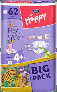 BELLA HAPPY Maxi Plus (9-20 kg) Big Pack 62ks - jednorázové pleny