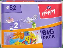 BELLA HAPPY Mini (3-6 kg) Big Pack 82ks - jednorázové pleny