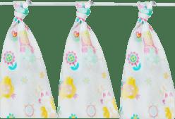 KIKKO Bawełniane pieluszki Lux 80x80 (3 szt.) z nadrukiem – dla dziewczynki