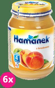6x HAMÁNEK S broskvemi (190 g) - ovocný příkrm