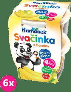 6x HAMÁNEK Desiata jablko+banán 100% ovocie (2x130g)