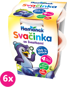 6x HAMÁNEK Svačinka se švestkami 100% ovoce (2x130 g)