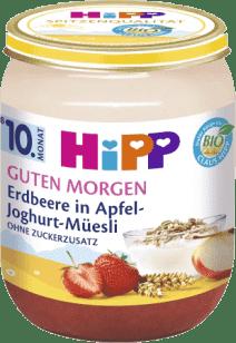 HIPP BIO Müsli, jahody a jogurt (160 g) - ovocný príkrm