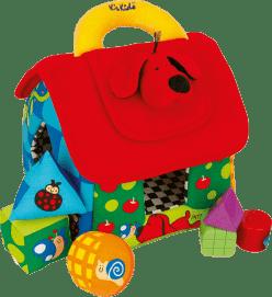 K´s Kids Velký barevný domeček PATRICK pro rozlišování geometrických tvarů