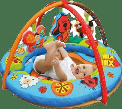 K´s Kids Aréna guľatá s vankúšmi, hrazdičkou a závesnými hračkami