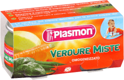 PLASMON Miešaná zelenina - zeleninový príkrm 2x80g