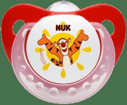 NUK Smoczek Disney (silikon), 6-18 miesięcy – czerwony
