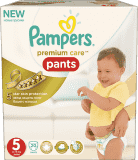 PAMPERS Premium Care Pants 5 JUNIOR 20 ks, 12-18 kg (Premium klub)