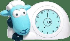 Zazu Ovečka SAM modrá - tréningový budík s nočným svetlom