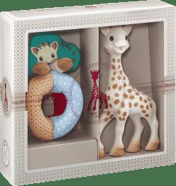 VULLI Můj první dárkový set žirafa Sophie a měkké chrastítko