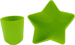 PACIFIC BABY Bamboo Miska – gwiazda + Kubek zielony
