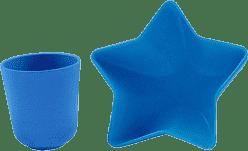 PACIFIC BABY Bamboo Miska – hvězda + Hrneček modrý