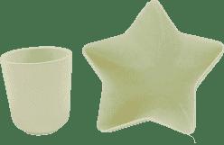 PACIFIC BABY Bamboo Miska – hvězda + Hrneček bílý