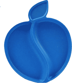 PACIFIC BABY Bamboo Apple Talířek modrý