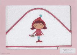 INTERBABY Ręcznik dla dziecka frotte 100x100 dziewczynka