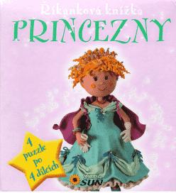 KNIHA Riekanková puzzle kniha - Princezné