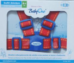 BABY ONO Popruhy na dieťa - červené, 6m+