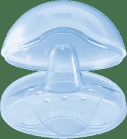NUK Prsný klobúčik silikon + box, 2ks, veľkosť M