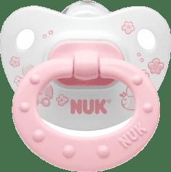 NUK Smoczek Classic różowy, silikonowy, wielkość 1, 0-6m